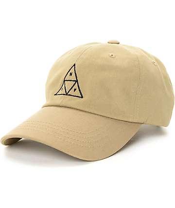 HUF Triangle Khaki Baseball Strapback Hat