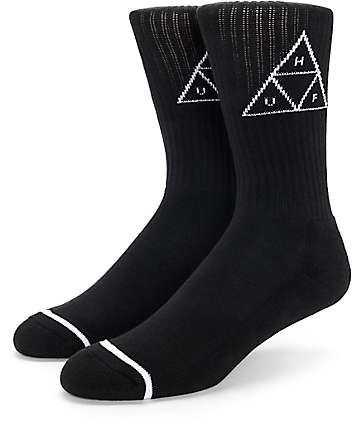 HUF Triple Triangle Black Crew Socks
