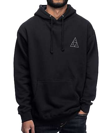 HUF Triple Triangle Black Hoodie
