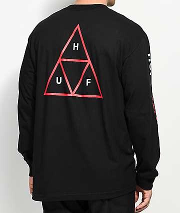HUF Triple Triangle Black Long Sleeve T-Shirt