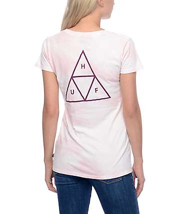 HUF Triple Triangle Crystal Smoke Pink T-Shirt