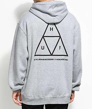 HUF Triple Triangle Grey Hoodie