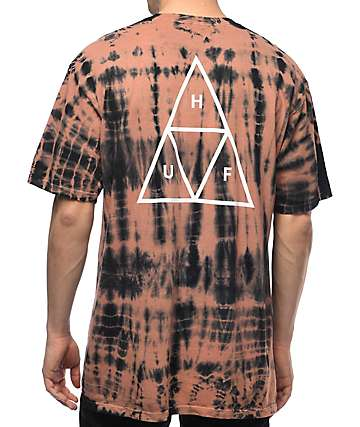HUF Triple Triangle Lightning camiseta rosa