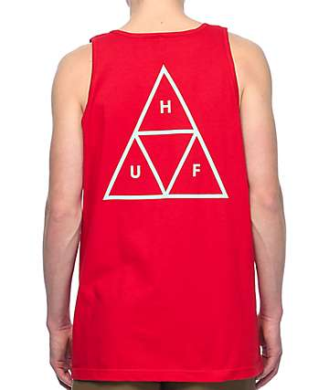 HUF Triple Triangle Red Tank Top