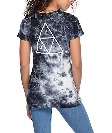 HUF Triple Triangle Smoke Crystal Wash T-Shirt