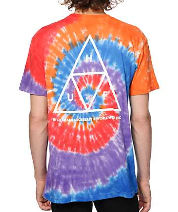 HUF Triple Triangle Tie Dye T-Shirt