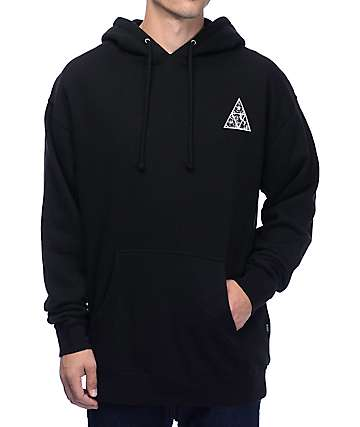 HUF Triple Triangle UV Black Hoodie