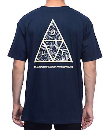 HUF Triple Triangle UV Navy T-Shirt