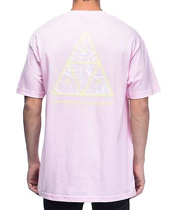 HUF Triple Triangle UV Pink T-Shirt