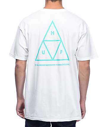 HUF Triple Triangle UV White T-Shirt