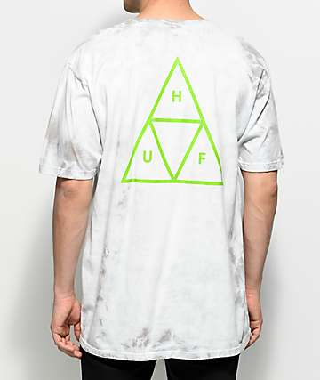 HUF Triple Triangle Washed Grey T-Shirt