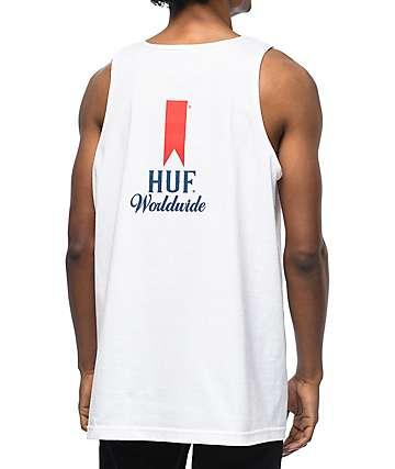HUF Ultra camiseta blanca sin mangas