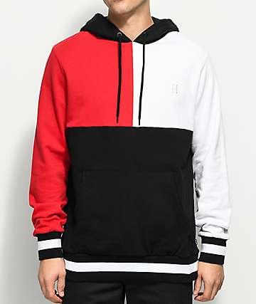 HUF Velli Red, White & Black Hoodie