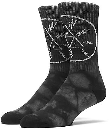 HUF Voltage Triangle Black Crew Socks
