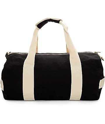 HUF Weekend Black Duffel Bag