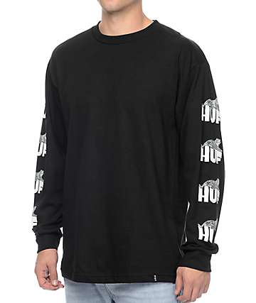 HUF Wildcat Black Long Sleeve T-Shirt