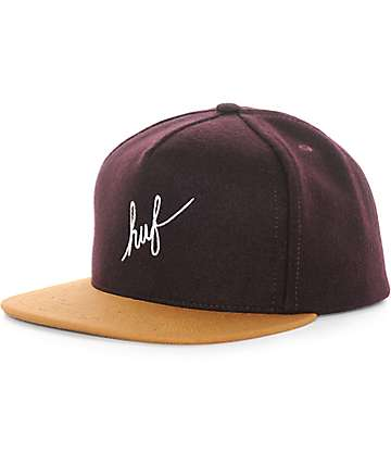 HUF Wool Script Strapback Hat