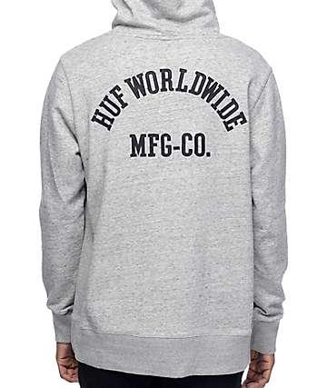 HUF Worldwide sudadera gris con capucha