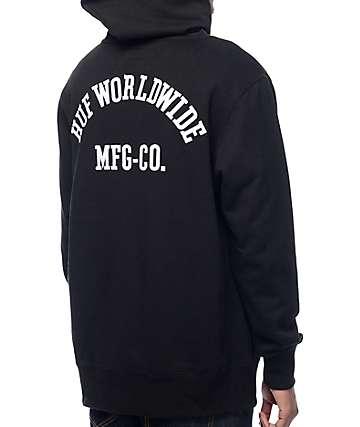 HUF Worldwide sudadera negra con capucha