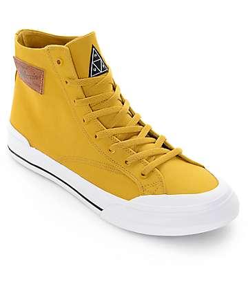 HUF X Millerain Classic Hi Mustard Skate Shoes
