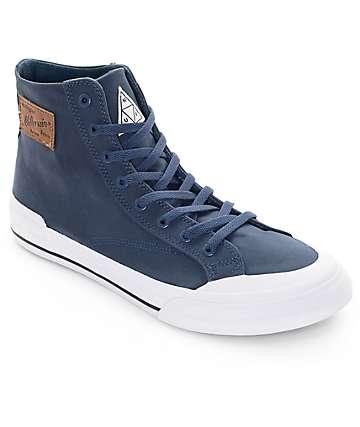 HUF X Millerain Classic Hi Navy Skate Shoe