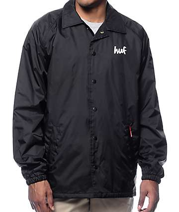 HUF x Chocolate Chunk Black Coach Jacket