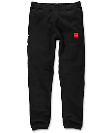 HUF x Chocolate Chunk Worldwide Black Sweatpants