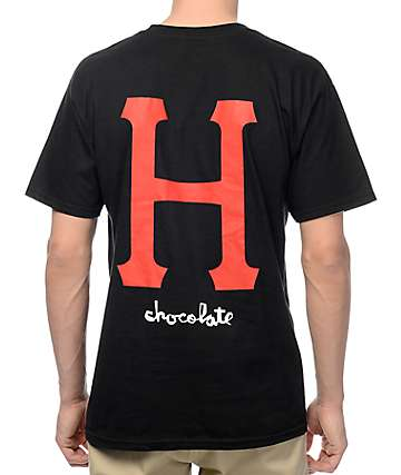 HUF x Chocolate Classic H Black T-Shirt