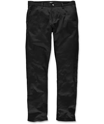 HUF x Chocolate Selvedge Black Chino Pants