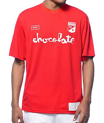 HUF x Chocolate Torrance Red FC Soccer Jersey