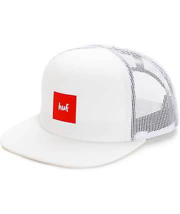 HUF x Chocolate White Snapback Hat