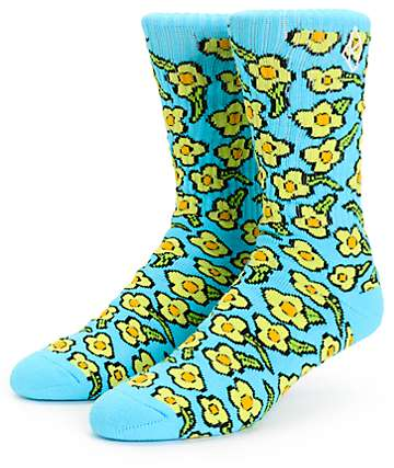 HUF x Krooked Peacock Crew Socks