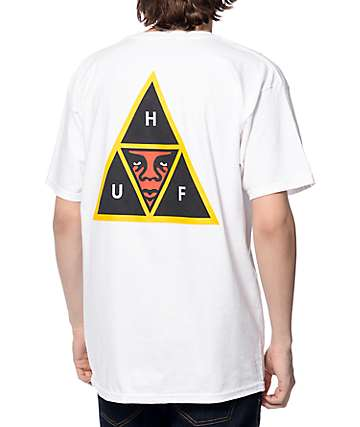 HUF x Obey Icon Face White T-Shirt