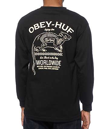 HUF x Obey Rat Race Long Sleeve T-Shirt