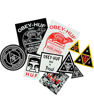 HUF x Obey Sticker Pack