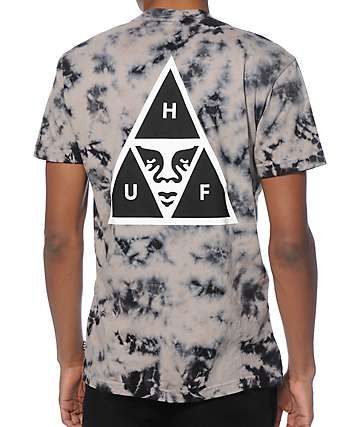 HUF x Obey Triple Triangle Tie Dye T-Shirt