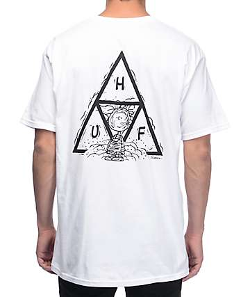 HUF x Peanuts Pig-Pen Triangle White T-Shirt