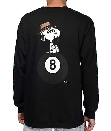 HUF x Peanuts Spike Black Long Sleeve T-Shirt