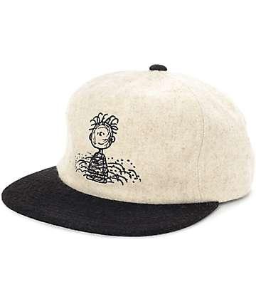 HUF x Pigpen White & Black Strapback Hat
