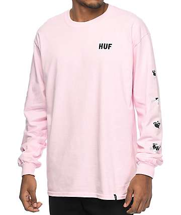 HUF x Pink Panther Heads Pink Long Sleeve T-Shirt