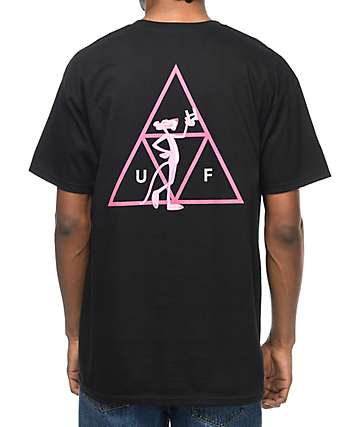 HUF x Pink Panther Tripple Triangle Black T-Shirt