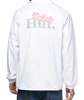 HUF x Pink Panther White Coaches Jacket