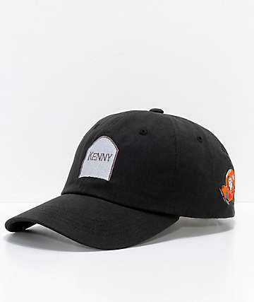 HUF x South Park Dead Kenny Black Strapback Hat