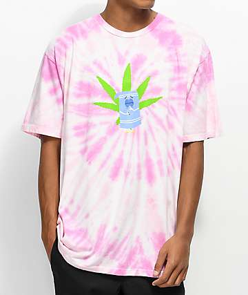 HUF x South Park Towelie Pink Tie Dye T-Shirt