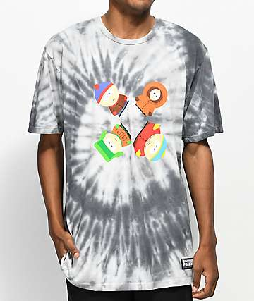 HUF x South Park Trippy Black Tie Dye T-Shirt