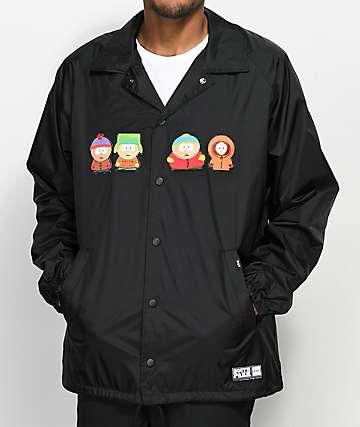 HUF x South Park chaqueta entrenador en negro