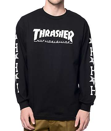 HUF x Thrasher Black Long Sleeve T-Shirt
