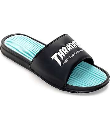 HUF x Thrasher Black Slide Sandals