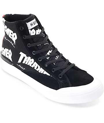 HUF x Thrasher Classic Hi TDS Black & White Skate Shoe