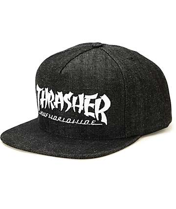 HUF x Thrasher Stoops Asia Tour Denim Snapback Hat